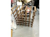 Wine Rack - wood 30 bottle