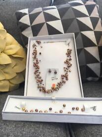 Neckless, earrings, bracelet set