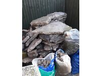 FREE Concrete / plaster - broken up path for hardcore or crazy paving
