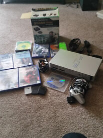 playstation 2 console, gametrax, games
