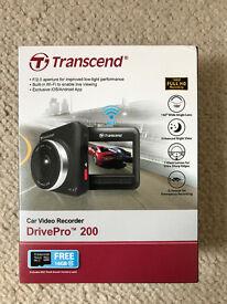 Brand new, unused Transcend 'DrivePro 200' car video recorder (Dashcam)