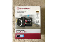 Brand new, unused Transcend 'DrivePro 200' car video recorder (Dashcam)