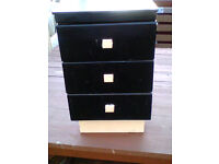 Vintage handmade 3 drawer unit wood