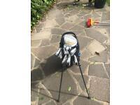 Callaway golf bag and mizuno irons
