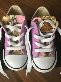 Girls beauty and the beast converse infant size 8