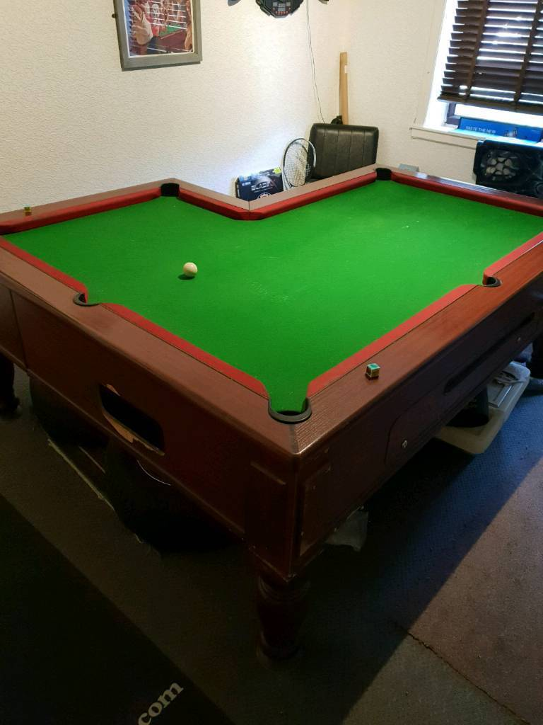 L Shaped Slate Bed Pub Pool Table In Clackmannan Clackmannanshire - L shaped pool table
