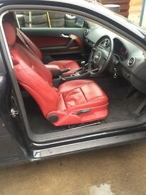 IMACULATE AUDI A3 RED LEATHER!