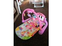 Fisher price pink piano gym baby mat