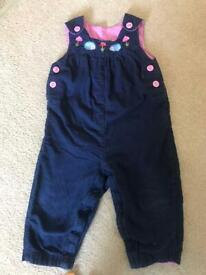 Jo Jo Maman Bebe 12-18 months dungarees for girl