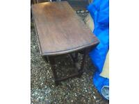 Solid Oak Folding Table, LOCAL DELIVERY POSSIBLE.