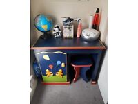 Solid wood classic child's desk and stool