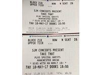 Take That Wonderland Tour Tickets 2017. Manchester Arena 18/05/2017