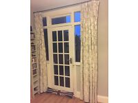 Gorgeous Cream/Beige Curtains from John Lewis and black curtain pole