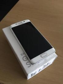 Samsung Galaxy S6 edge pearl white. Like new