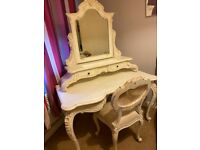 French chateau/shabby chic bedroom furniture
