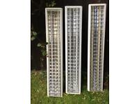 Fluorescent strip Lights with Louvre - 5ft Twin