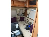 Selling our lovely caravan due to not being used enough very clean and tidy 4 Beth fixed bed