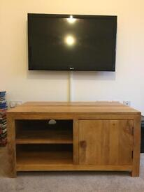Oak Furniture Land Mango solid wood TV unit. Excellent condition!