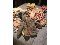 Girls bundle of clothes 1year to 2 years around 80 pieces