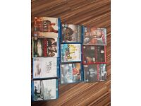 7 blu ray and 3 dvds ( immaculate condition)