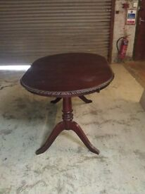 Oval Brown Table
