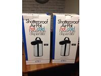 2x New . Shatterproof 2x 3L air pots . Dispensers
