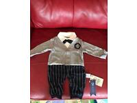 WAISTCOAT ALL-IN-ONE BABY OUTFIT