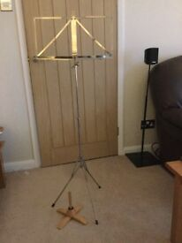 Music stand and flute stand.