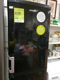 BEKO black refurbished fridge freezer with 6 month warranty