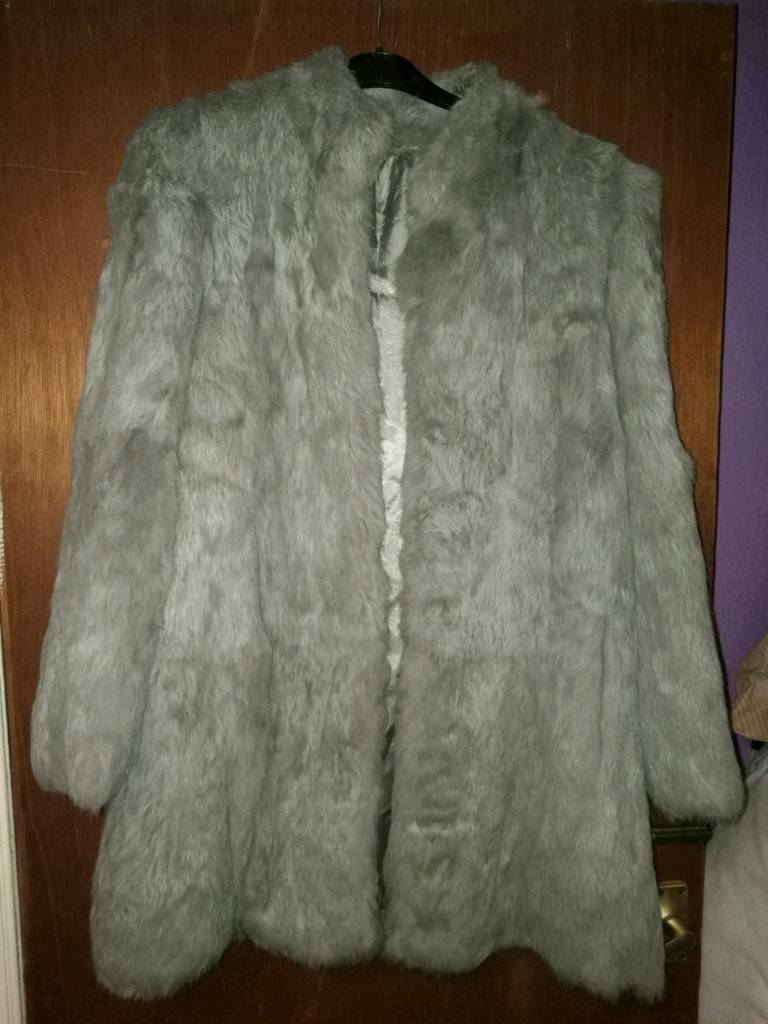 French Rabbit 1980s, Retro Fur Jacket