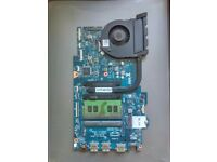 Motherboard for dell 5567 laptop with i5 processor, 8gb ram , fan and heatsink included