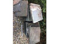 Paving patio slabs