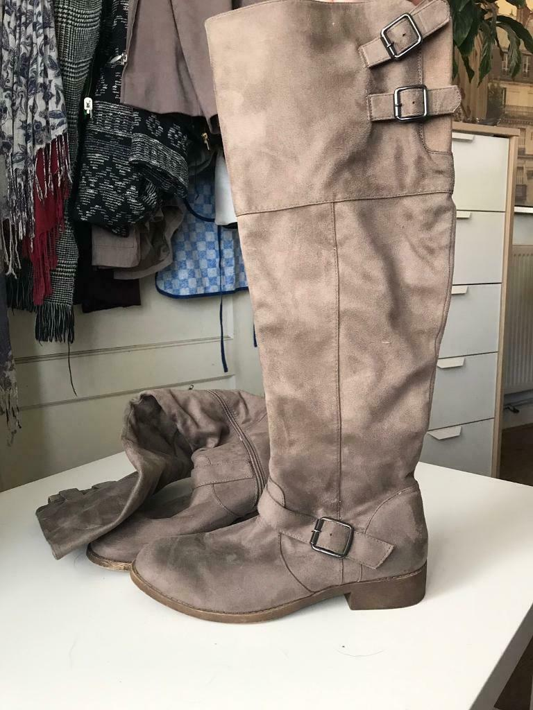 9f993e7fa76 JustFab Size 8 Mink Suede Knee High Boots | in Kingstanding, West Midlands  | Gumtree
