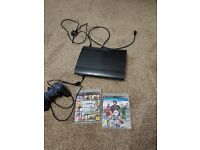 Ps3 super slim(200gb) with one pad two games