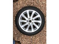 """17"""" INCH ALLOY WHEEL INCLUDING TYRE - IDEAL FOR A SPARE WHEEL - ONLY £60"""