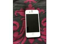 Apple I phone 4 white