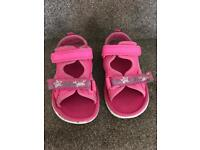 Girls clarks shoes / sandals/ beach shoes size 6 and a half F