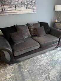 Three Seater DFS Sofa, Chair and Footstool for sale