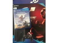 PS4 + horizon zero dawn + Monster hunter installed on console