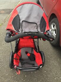 Phil and teds double pushchair