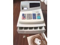 Sharp electronic cash register XE-A101 with keys, till roll and manual