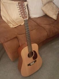 Martin D12X1AE 12 string acoustic guitar (with Fishman pickup system and gig bag)