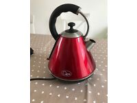 Red kettle almost brand new