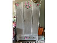 Beautiful vintage wardrobe with floral design
