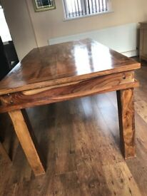 Solid real oak dining table