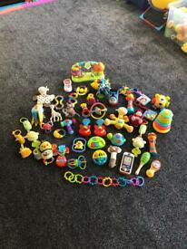Baby toy bundle (43 items)
