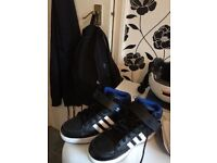 Boys size 5 Addies hightops never worn in the box as they came