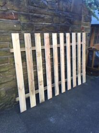 "Good ""NEW"" wooden cheap paling fence panels 6x4 for collection to clear"
