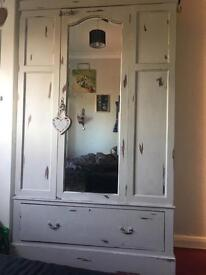 Large Vintage Shabby Chic Wardrobe. this was in the family for 105 years