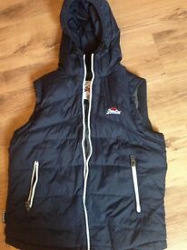 Mens superdry body warmer large